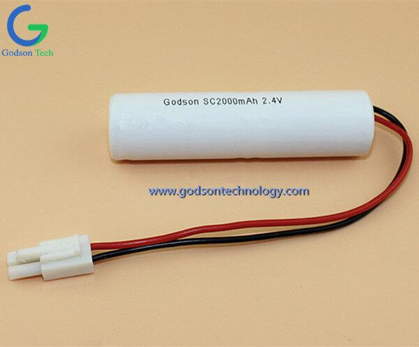 Аккумулятор Ni-Cd SC2000mAh 2.4V
