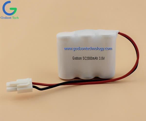 Аккумулятор Ni-Cd SC2000mAh 3.6V