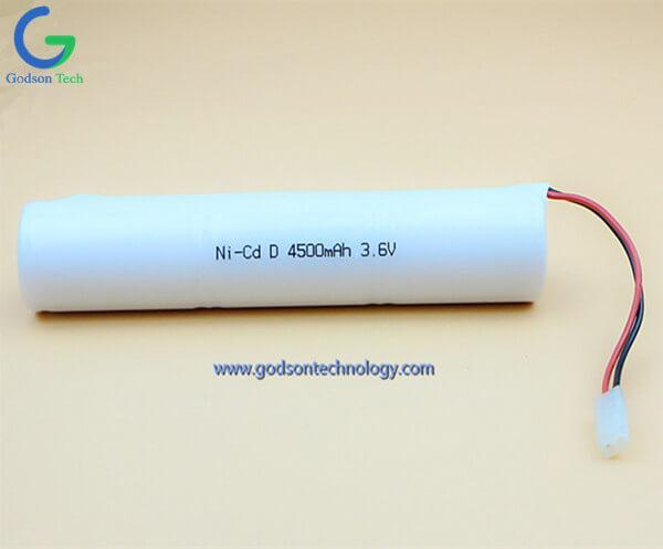Аккумулятор Ni-Cd D4500mAh 3.6V