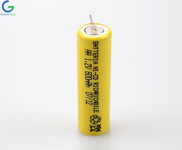 Aккумуляторная Ni-Cd AA600mAh 1.2V