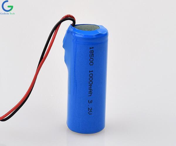 Аккумулятор LiFePO4 IFR18500 1000mAh 3.2V