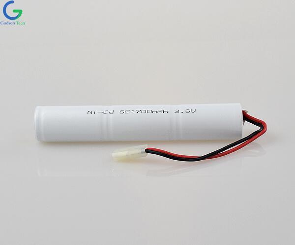 Аккумулятор Ni-Cd SC1700mAh 3.6V