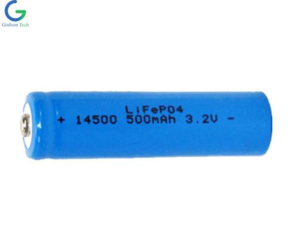 LiFePO4 Аккумулятор IFR14500 500mAh 3.2V