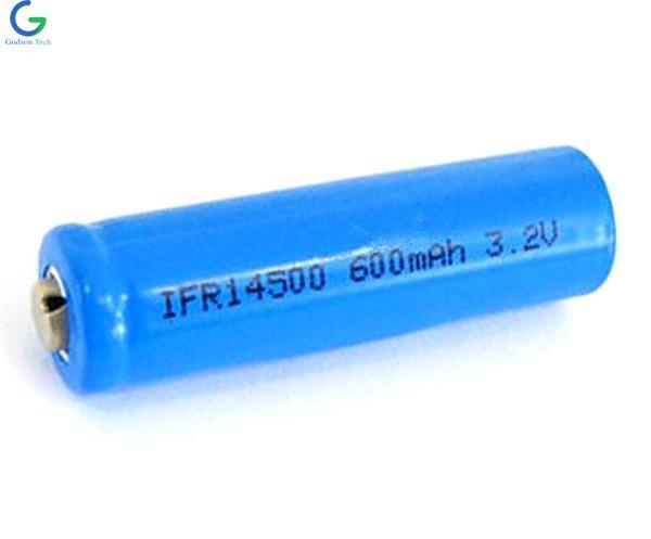 LiFePO4 Аккумулятор IFR14500 600mAh 3.2V