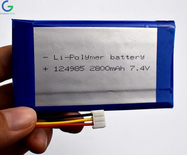 литий-полимерный аккумулятор 124985 2800mAh 7.4V
