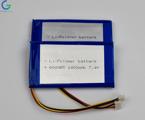 литий-полимерный аккумулятор 604985 1400mAh 7.4V