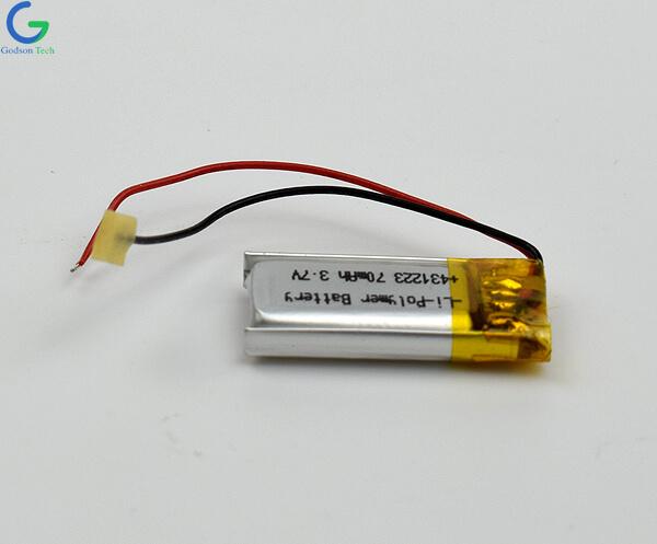 литий-полимерный аккумулятор 431223 70mAh 3.7V