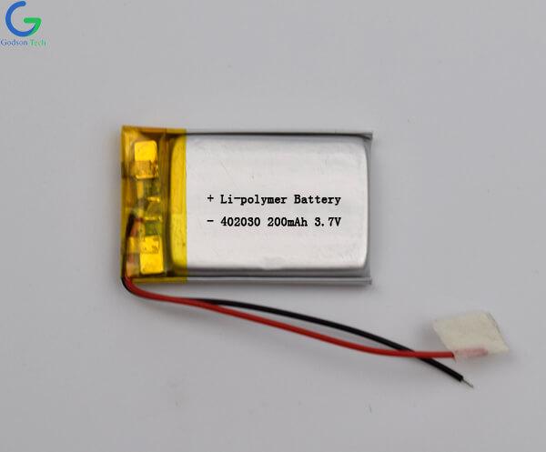 литий-полимерный аккумулятор 402030 200mAh 3.7V