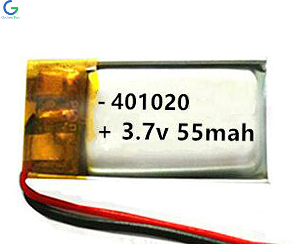 литий-полимерный аккумулятор 401020 55mAh 3.7V