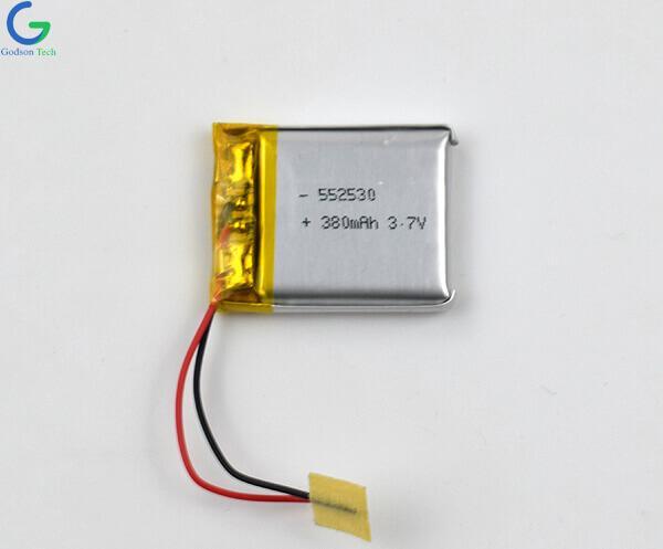 литий-полимерный аккумулятор 552530 380mAh 3.7V