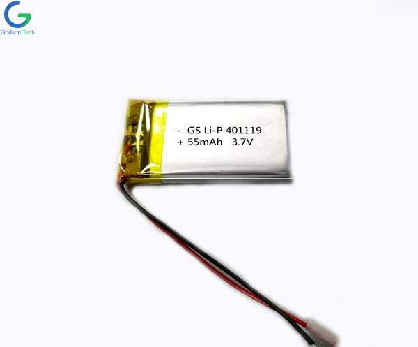 литий-полимерный аккумулятор 401119 55mAh 3.7V